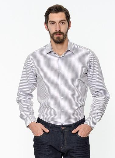 Daffari Çizgili Gömlek Bordo